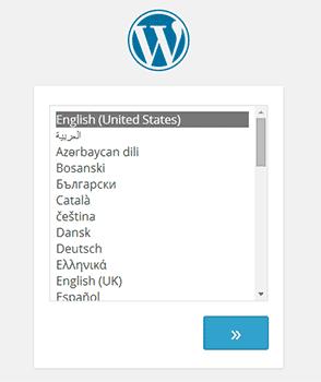 lingua del sito installazione