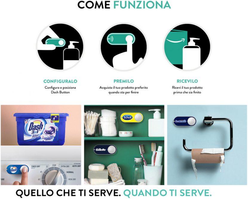 Amazon lancia il Dash Button in Italia