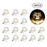 16 faretti LED da Incasso con Resistenza all'acqua IP67 per Giardino Patio Scala
