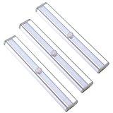 3 Luci LED per armadio con fotosensore di movimento