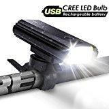 Aglaia luce bici USB ricaricabile, 400lumen