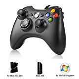 Controller di Gioco ,USB Spie a Spina Cablate Migliorato Disegno Ergonomico Joypad Gamepad Controller per Xbox 360 e PC Windows 7
