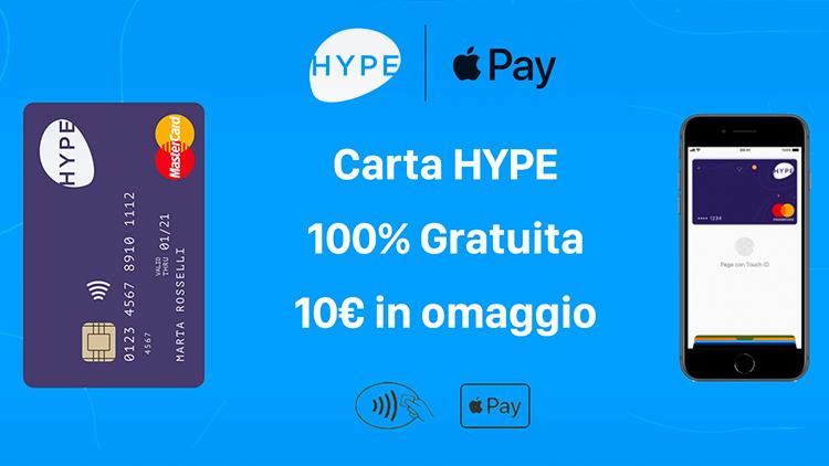 Continua fino ad Aprile la promozione HYPE che regala 10€ ai nuovi iscritti