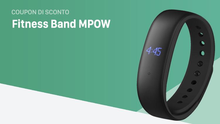 Fitness Band MPOW per tracciare la frequenza cardiaca e monitorare il sonno, in sconto con Coupon iSpazio