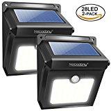 Luci Solari, Confezione 2 Lampade Solari da Esterno 28 LED con Sensore di Movimento