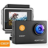 Action Cam Full HD 1080P con Custodia Impermeabile subacquea