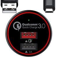 Caricabatterie auto, 2 porte USB