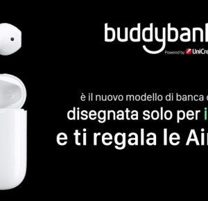 BuddyBank vi regala le AirPods: ecco tutti i dettagli della promozione