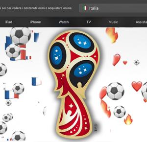 Apple festeggia la finale dei mondiali sul suo sito ufficiale