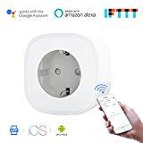 Presa Smart WiFi da 16A con Controllo dei Consumi – Funziona con iOS, Android, Alexa e Google Assistant