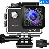 Victure Action Cam 4K WIFI Ultra HD – Display 2″, Vista Grandangolare e 20 Accessori