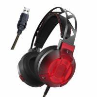 Cuffie Stereo da Gaming USB con Audio Surround – Luce LED, Microfono e Tecnologia di Isolamento Acustico