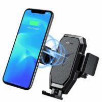 Supporto Smartphone per Auto con Funzione di Caricabatterie Wireless – Compatibile con Dispositivi Qi-Abilitati