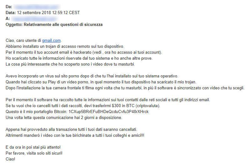 Ti stanno per chiedere un riscatto di 300 Euro