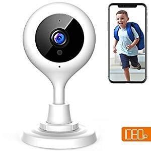 Telecamera di Sicurezza WIFI 1080P con Audio Bidirezionale, Baby Monitor e Modalità Notturna – Funziona con iOS e Android