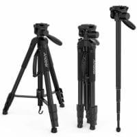 Treppiede 2in1 Andoer per Fotocamera con Testa a Sfera 4 Sezioni Carico 4kg – Include Custodia