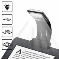 Lampada da Lettura USB Ricaricabile, Piccola e Flessibile – Con Clip e 4 Livelli di Luminosità