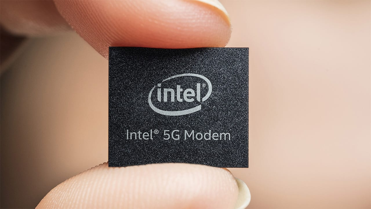 Un'immagine di un chip modem di Intel