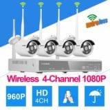 Kit di Sorveglianza Wireless 1080P con Backup USB, Visione Notturna e App per Smartphone