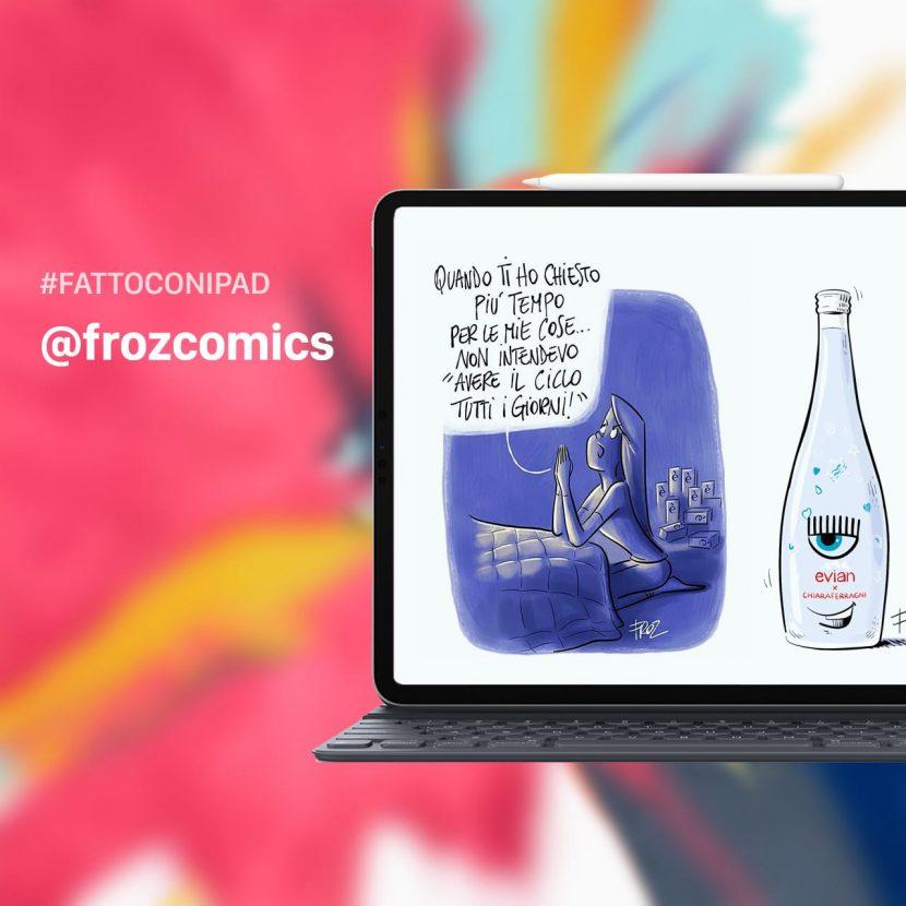 #FattoConiPad – Ecco alcune vignette di @frozcomics realizzate con iPad [Video]