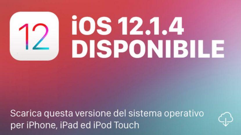 Apple rilascia iOS 12.1.4 che risolve il bug di FaceTime. [Link Download]