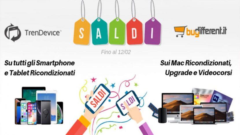 Saldi su TrenDevice e BuyDifferent: Super Sconti su tutti gli Smartphone, Tablet e Mac Ricondizionati. (iPhone 7 da 239,90€)