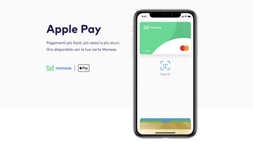 Monese, arriva il supporto ufficiale ad Apple Pay