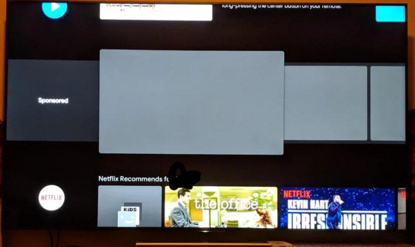 Android TV sta testando degli ads direttamente nel launcher, e non potete disattivarli (foto)