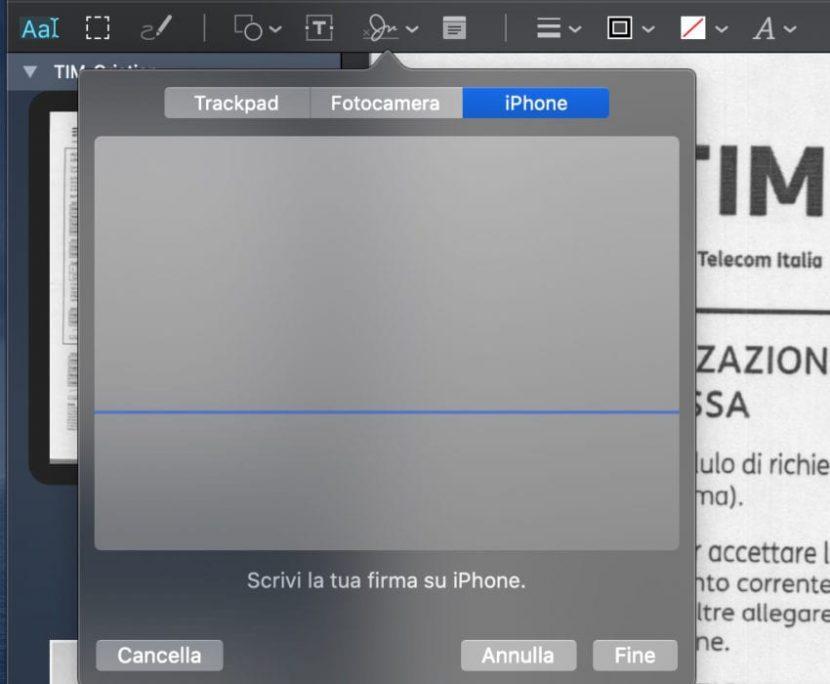 macOS Catalina permette di firmare i documenti sfruttando lo schermo dell'iPhone e iPad con iOS 13