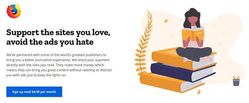 Disposti a pagare per non vedere pubblicità su Internet? Il nuovo progetto Firefox vi chiede 4,99$ al mese