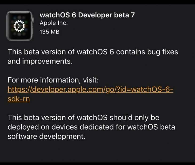 Apple rilascia watchOS 6 e tvOS 13 beta 7