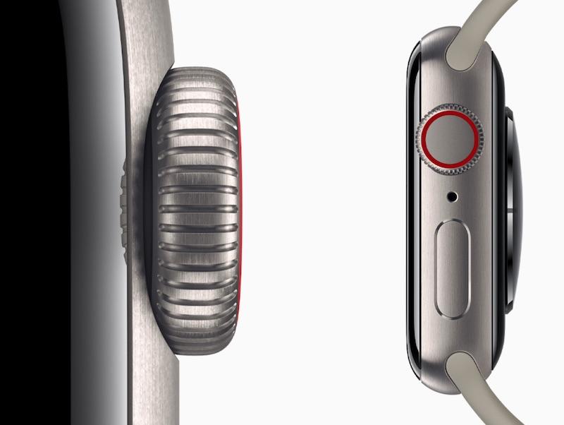 I modelli in titanio di Apple Watch Series 5 sono più leggeri dei modelli in acciaio inossidabile