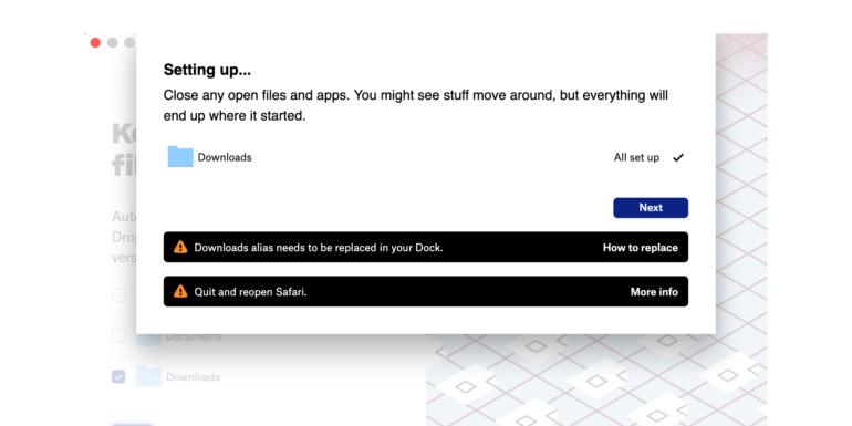 Dropbox beta per Mac aggiunge la sincronizzazione di desktop, documenti e download
