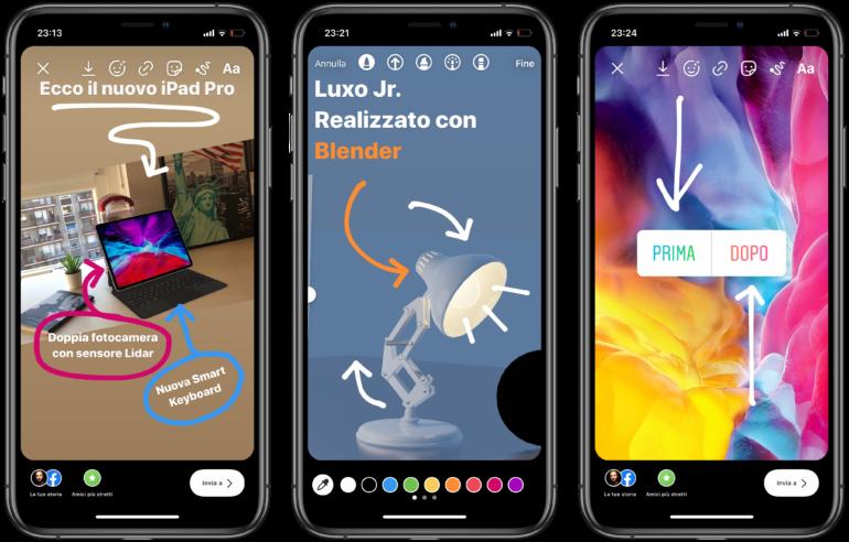 """Instagram lancia il nuovo sticker """"iorestoacasa"""" ed uno strumento per disegnare frecce nelle storie"""