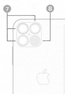 Immagine Leaked mostra lo schema dell'iPhone 12 Pro con 3 fotocamere e Scanner LiDAR