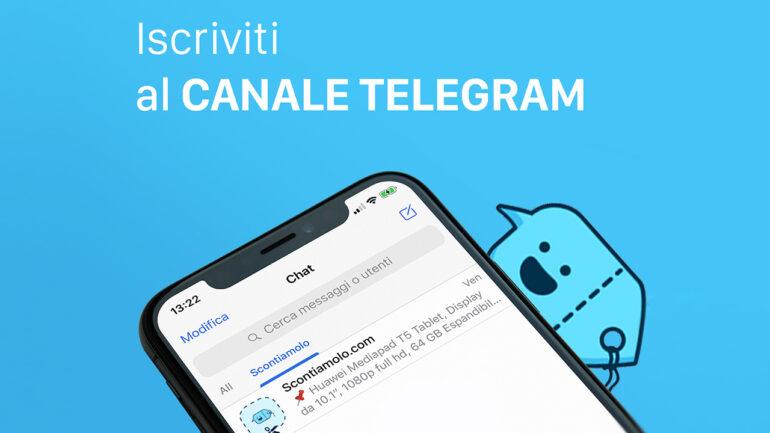 Scontiamolo: il nostro canale Telegram che vi fa risparmiare con le migliori offerte del web ed i Coupon