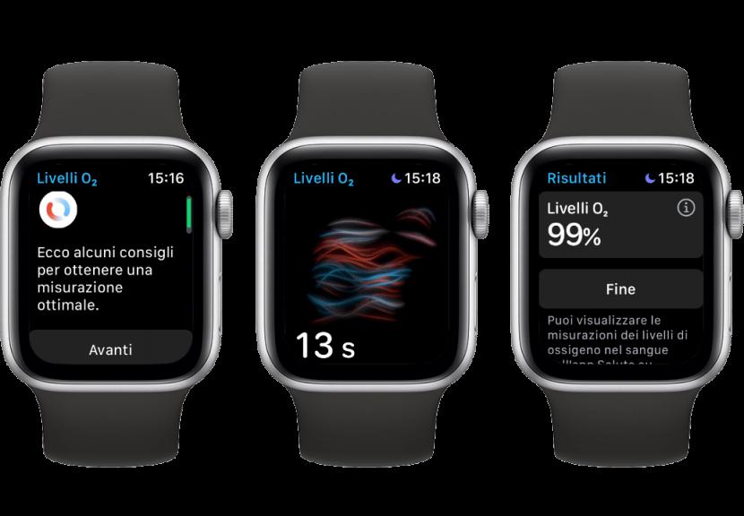 Come evitare errori durante la misurazione del livello di ossigeno nel sangue con Apple Watch 6