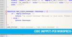 25+ WordPress Code Snippets