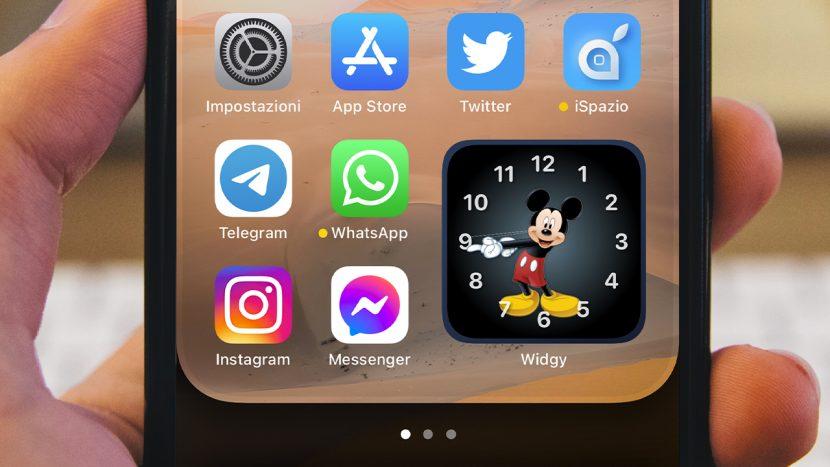 Guida: Come impostare l'orologio di Topolino sulla Schermata Home dell'iPhone